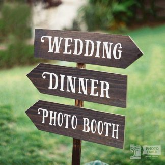 Tre insegne wedding personalizzabili garden giardino party