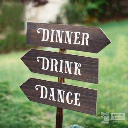 personalizzazione Tre insegne wedding personalizzabili garden giardino party