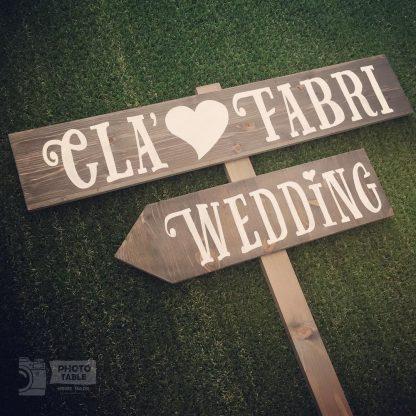 Wedding cla fabri insegne personalizzate in legno