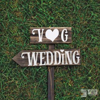 insegna wedding iniziali sposi