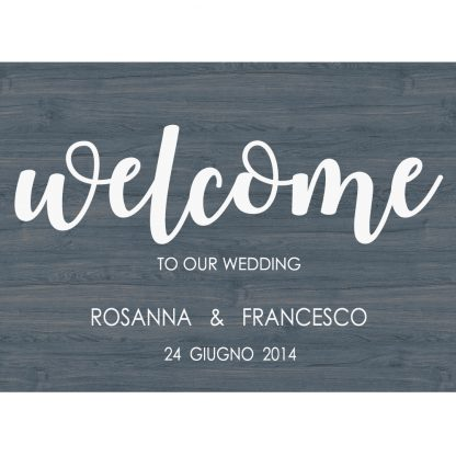 welcome wedding carta da zucchero