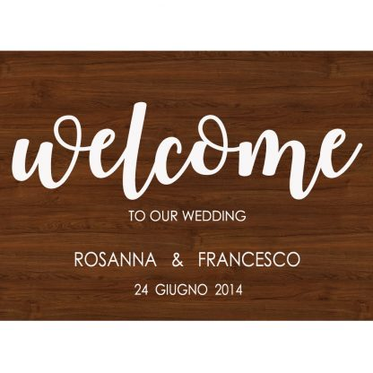 welcome wedding noce scuro