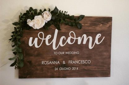 welcome wedding personalizzato
