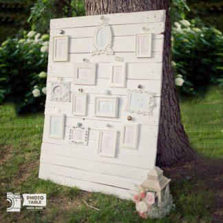 Tableau de Mariage Shabby Chic – cornici bianche – personalizzabile – wedding