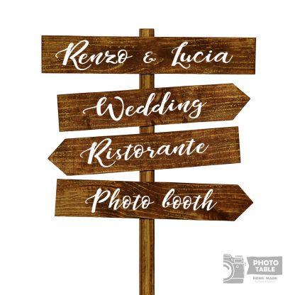 esempio personalizzazione quattro 4 insegne wedding