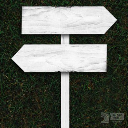 2 insegne wedding legno freccia base bianca scritte personalizzate