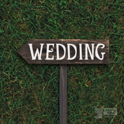 Indicazione WEDDING sagomata a punta